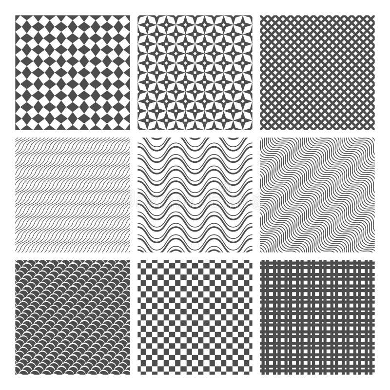 Testes padrões sem emenda monocromáticos ilustração do vetor