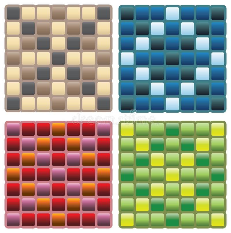 Testes padrões sem emenda quadrados ilustração royalty free