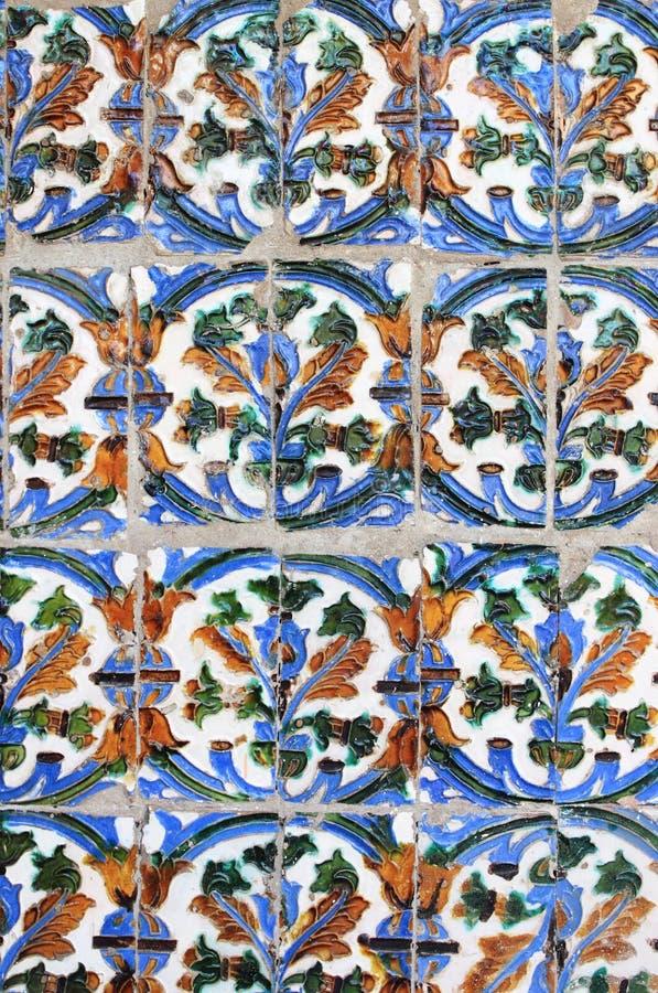 Testes padrões tradicionais de um Azulejo andaluz fotos de stock royalty free