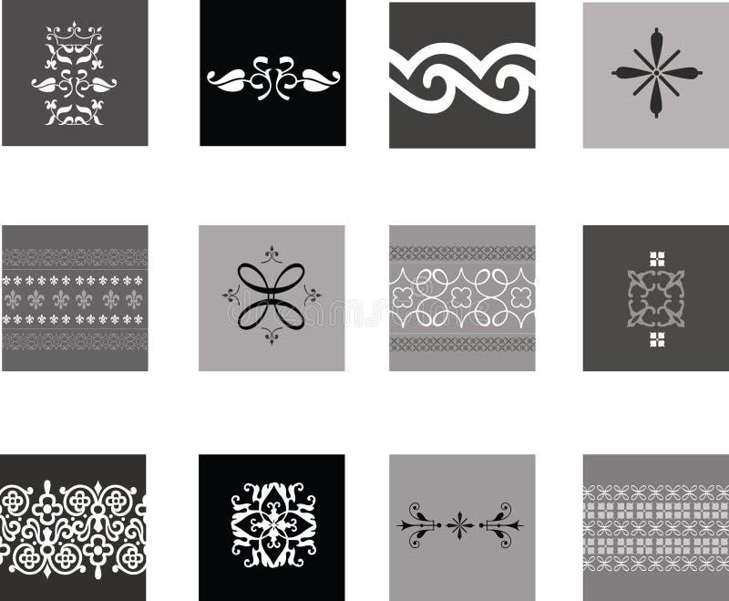 Testes padrões tradicionais intricados ilustração do vetor