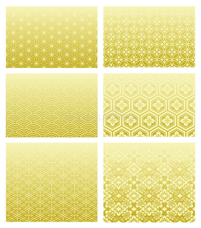 Testes padrões tradicionais japoneses ilustração do vetor