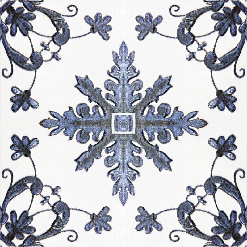 Testes padrões velhos dos azulejos no parque ilustração stock