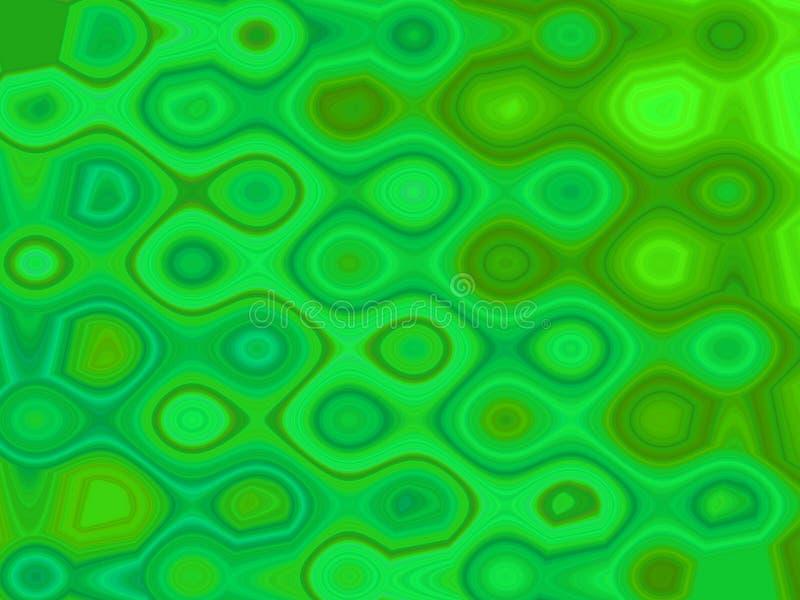 Testes padrões verdes ilustração do vetor