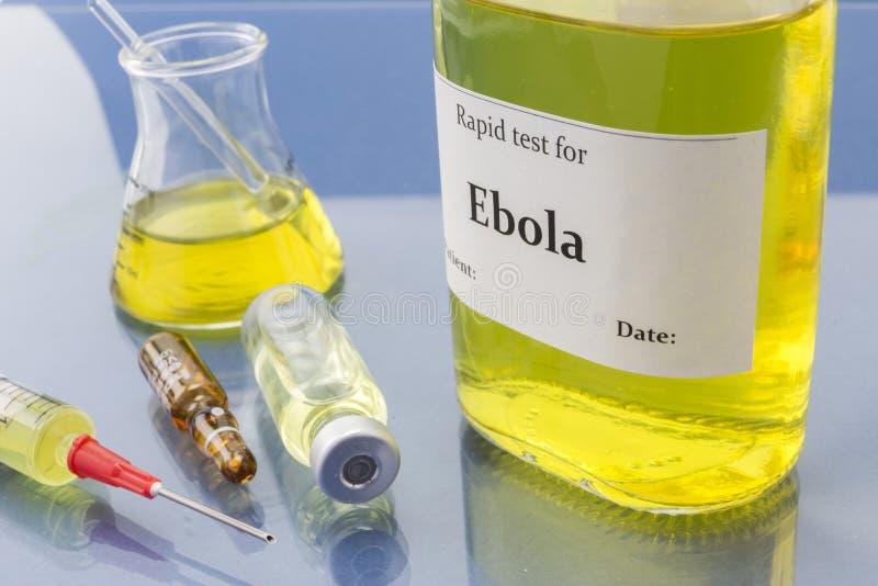 Testes para a pesquisa de Ebola imagens de stock royalty free