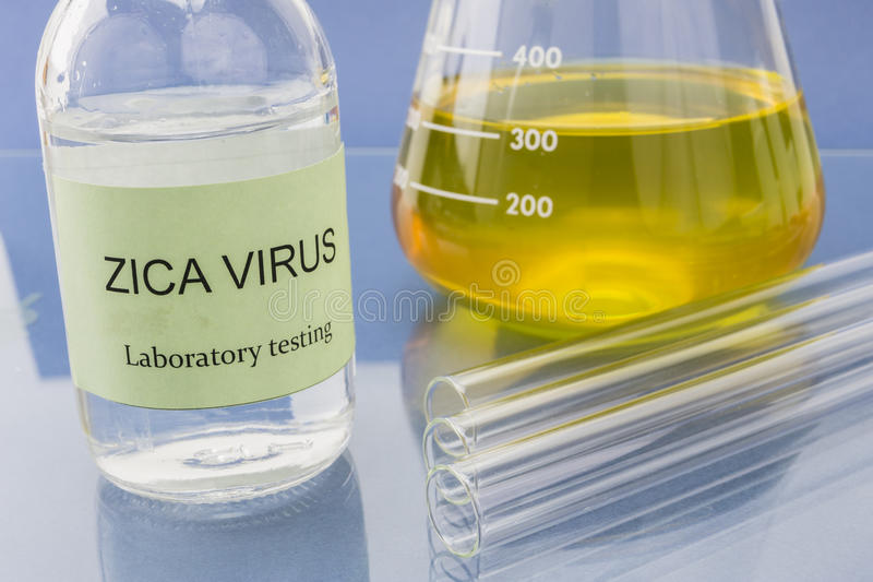 Testes para a pesquisa do vírus de Zica (ZIKV) fotos de stock