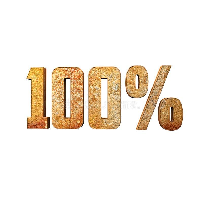 100% testi metallici d'arrugginimento 3D fotografia stock