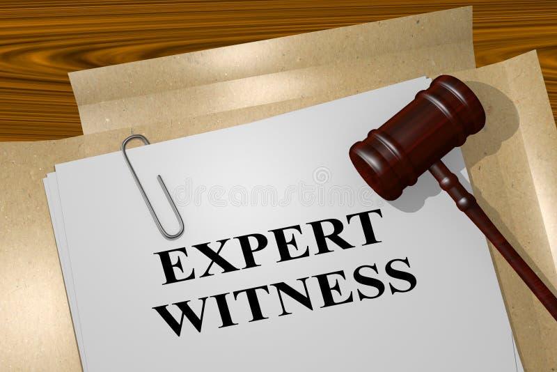Testigo experto - concepto legal libre illustration
