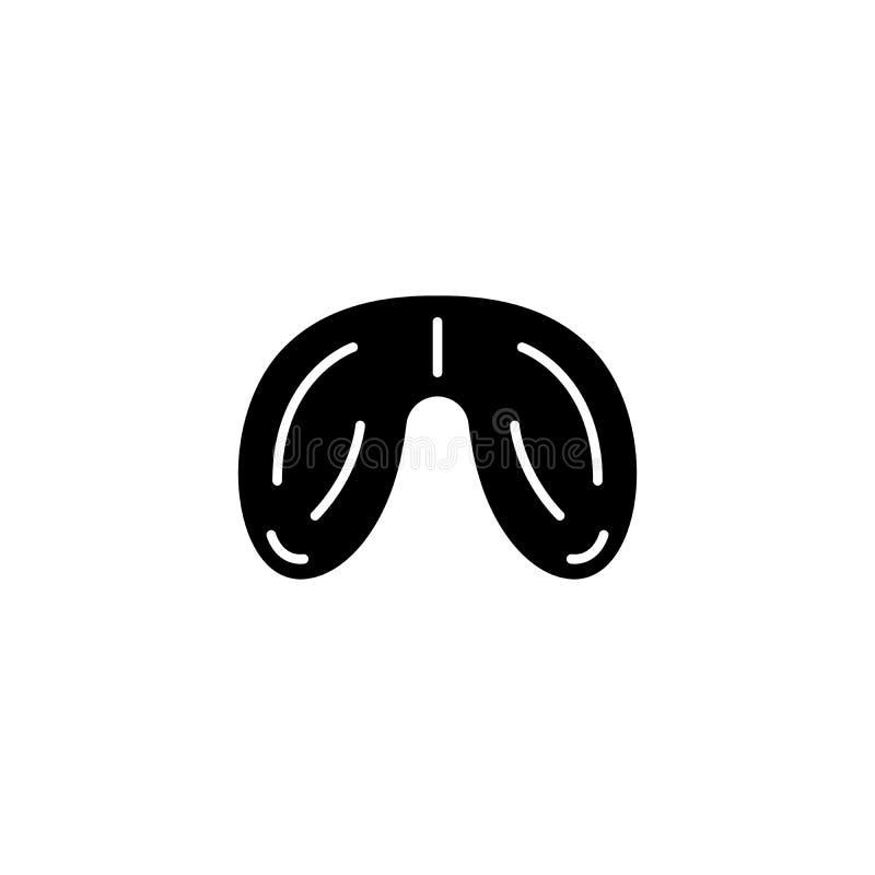 Testiklar svärtar symbolsbegrepp Testiklar sänker vektorsymbolet, tecknet, illustration stock illustrationer