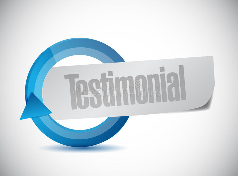 Testimonial cycle illustration design. Over a white background vector illustration