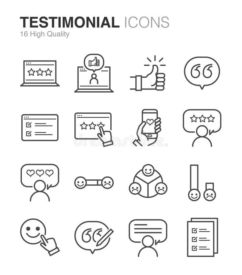 Testimonial and Feedback. Flat Design Illustration: Testimonial and Feedback vector illustration