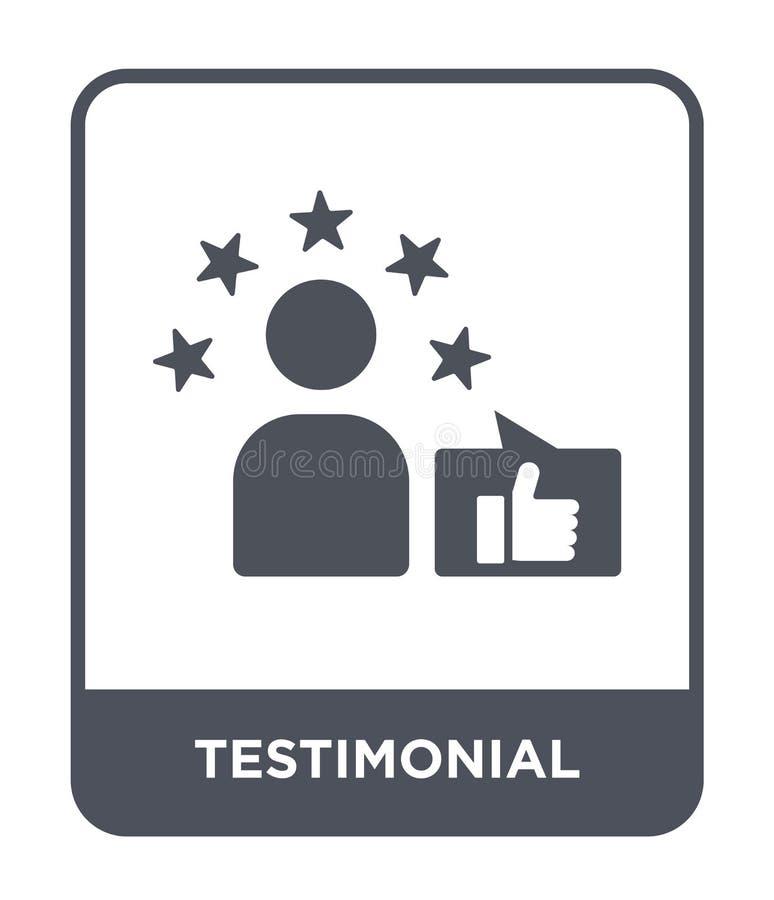 testimonial ikona w modnym projekta stylu testimonial ikona odizolowywająca na białym tle testimonial wektorowa ikona prosta i no ilustracja wektor