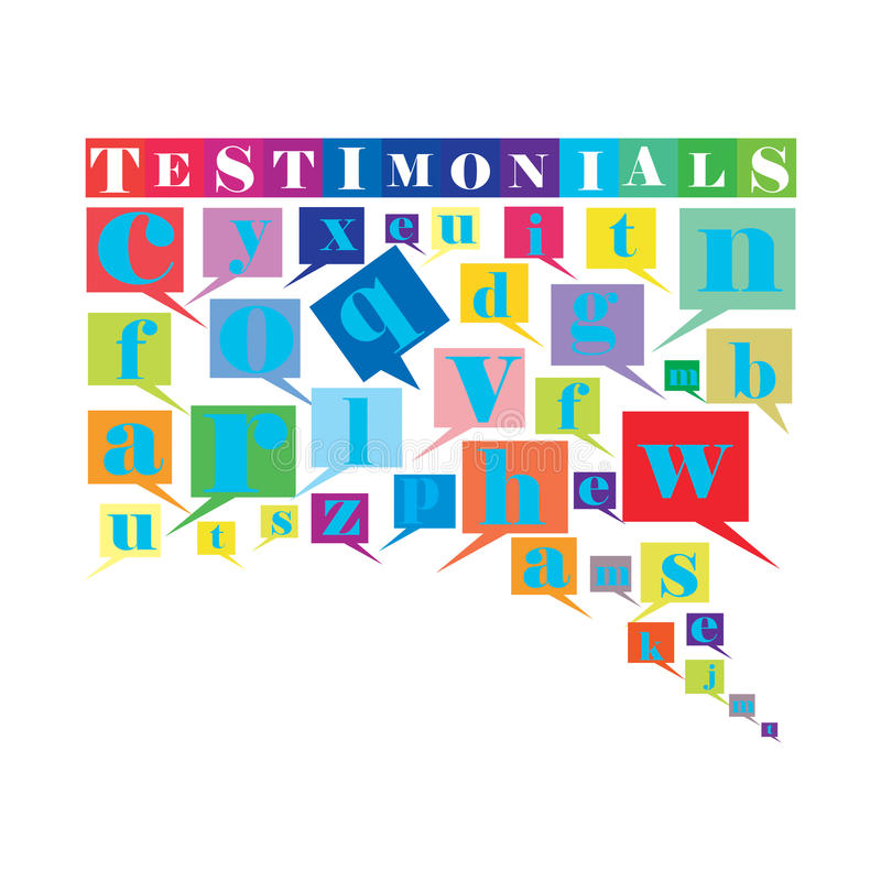 Testimonials. An abstract illustration of Testimonials royalty free illustration