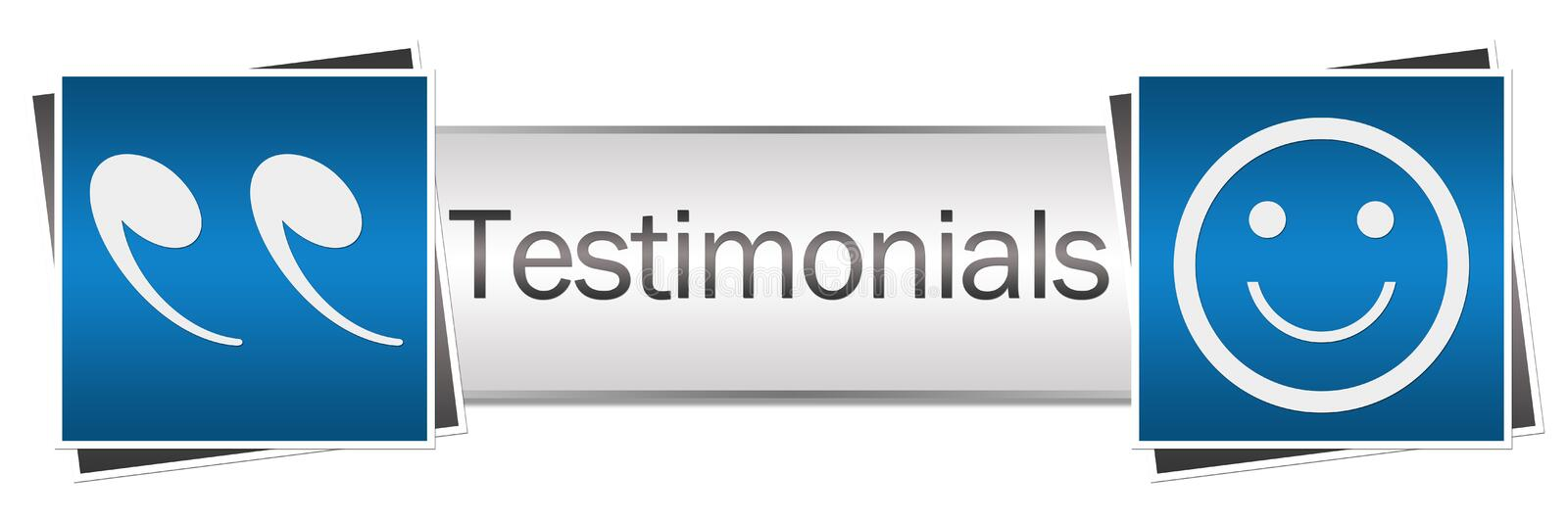 Testimonials Button Style. Testimonials concept image with text and related symbols vector illustration