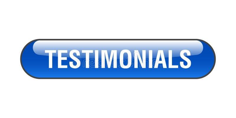 Testimonials button. Testimonials web button - computer generated illustration on isolated white background vector illustration