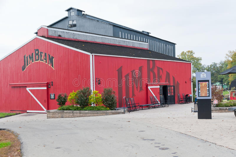 Testing barn at Jim Beam Distillery stock image