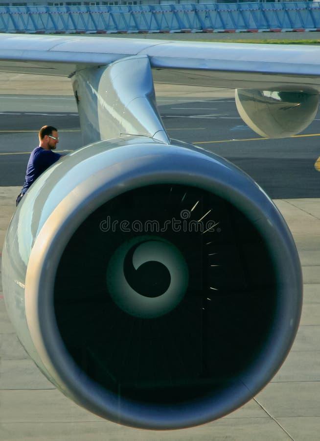 Testing the engine stock photos