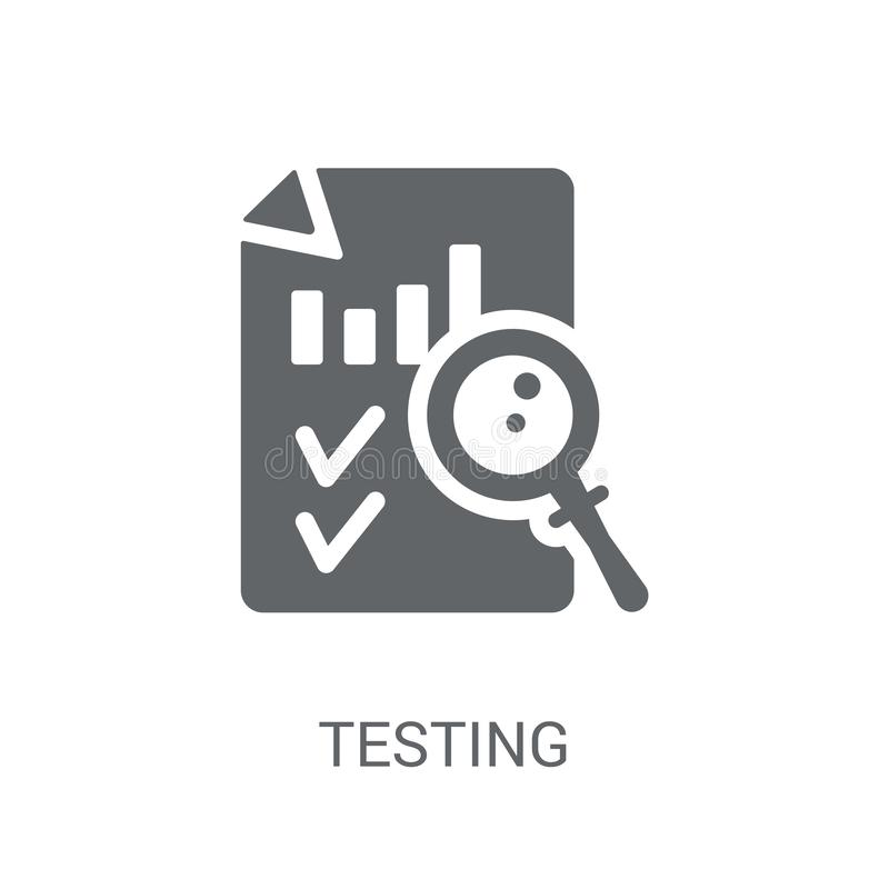 Testing icon. Trendy Testing logo concept on white background fr royalty free illustration