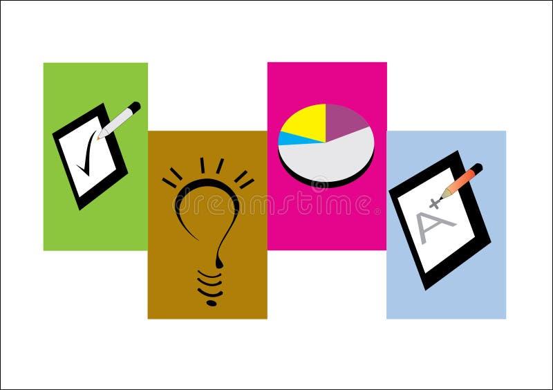 Testing Icons stock illustration