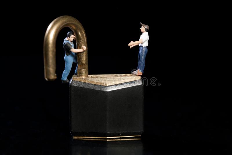 Download Testing The Strength Of A Lock Stock Image - Image of unlocked, shackle: 23257035