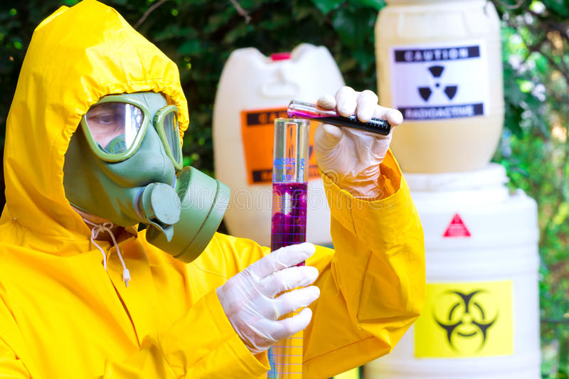 Testing of toxic substances stock photography