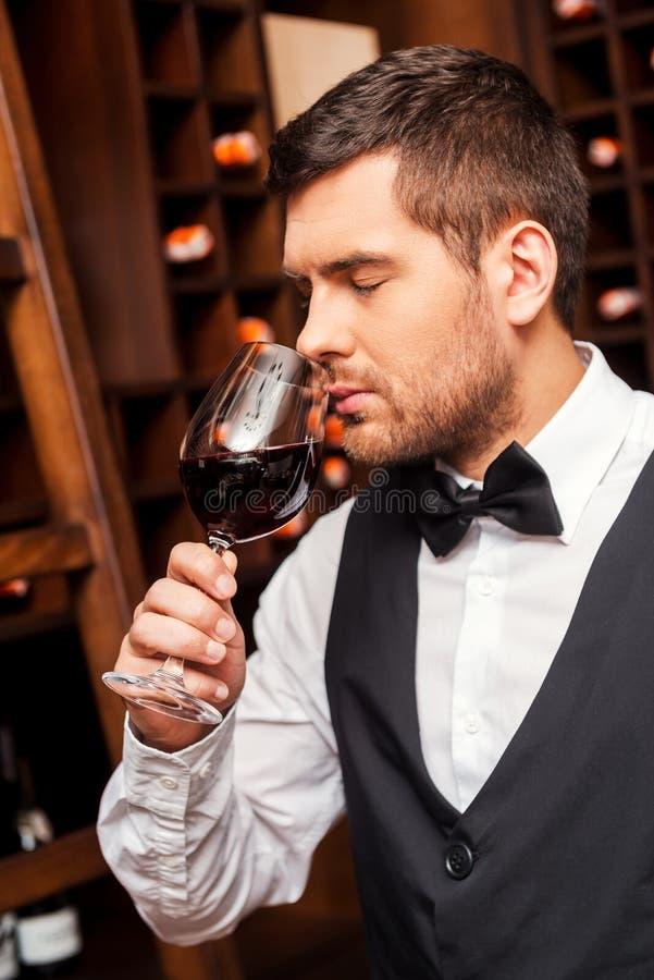 Testing wine. stock photography