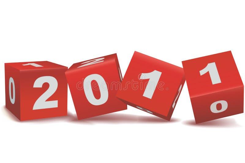 testo 2011 nei blocchi illustrazione di stock