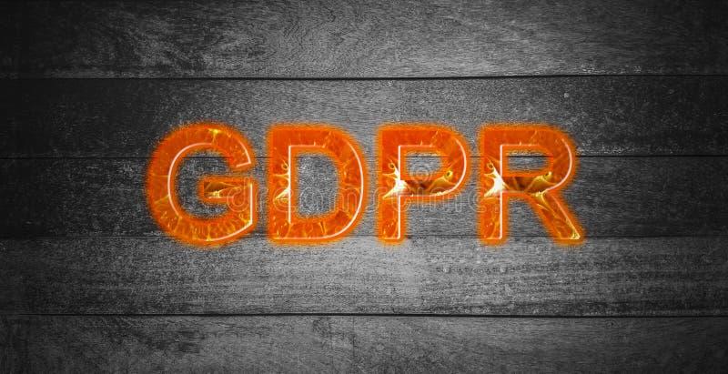 Testo arancio, regolamento di generale protezione dei dati di GDPR sull'Unione Sovietica fotografia stock