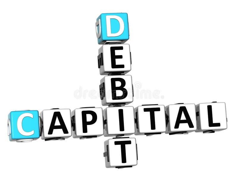 testo capitale delle parole incrociate di debito 3D royalty illustrazione gratis