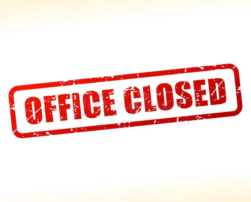 Testo chiuso dell'ufficio attenuato illustrazione vettoriale