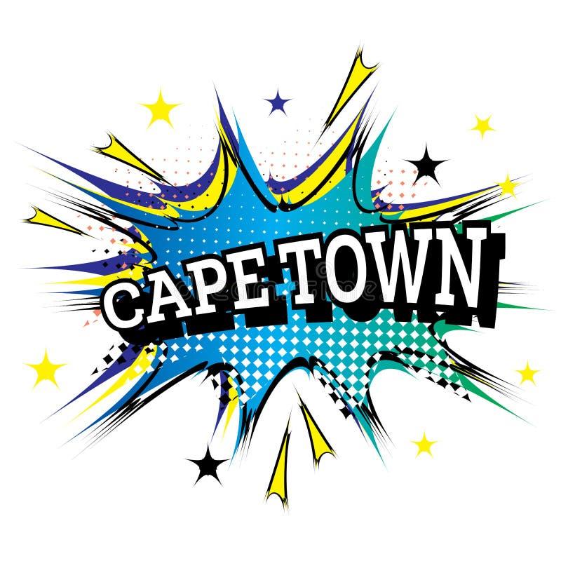Testo comico di Cape Town nello schiocco Art Style illustrazione vettoriale