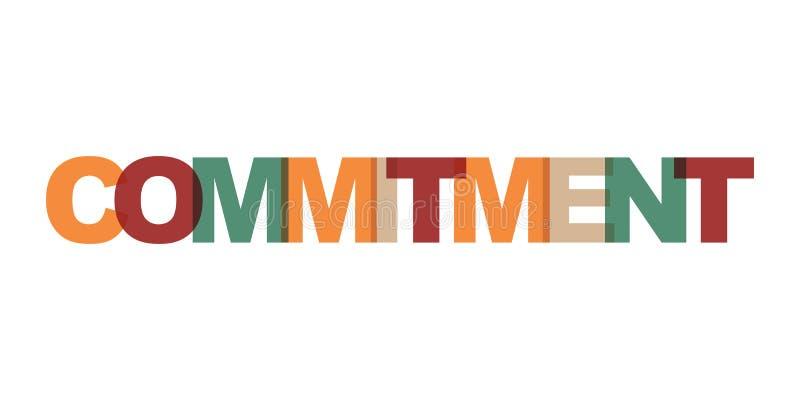 Testo del biglietto da visita della gestione di impegno Manifesto moderno dell'iscrizione Icona di slogan di arte di parola di co illustrazione vettoriale