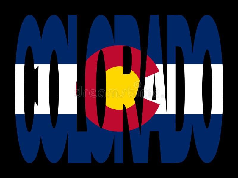 Testo del Colorado con la bandierina royalty illustrazione gratis