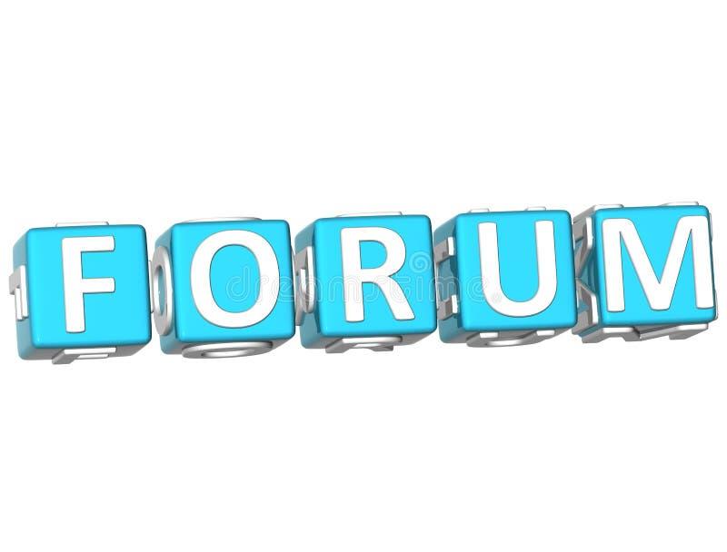 Testo del cubo del forum illustrazione di stock