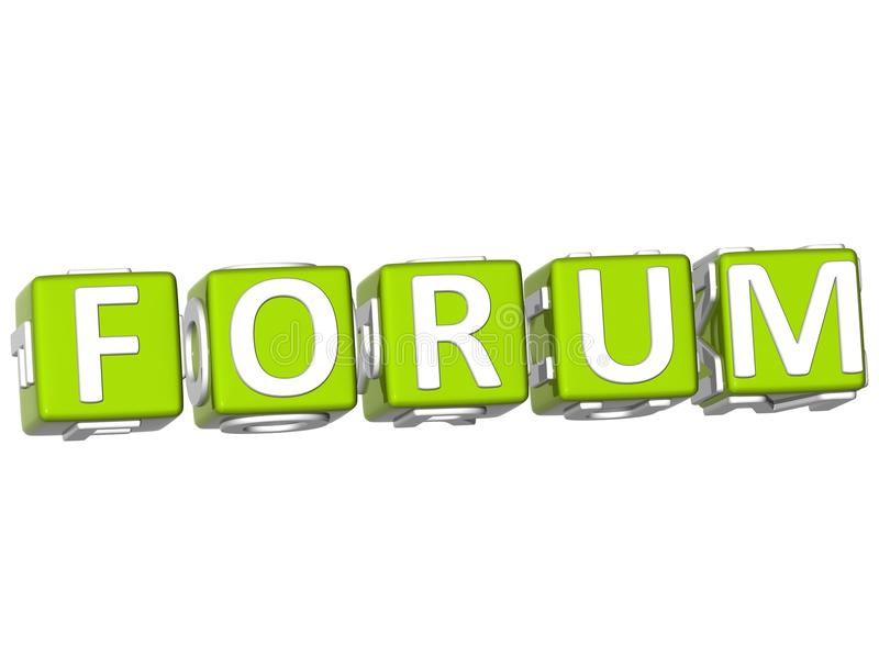 Testo del cubo del forum royalty illustrazione gratis