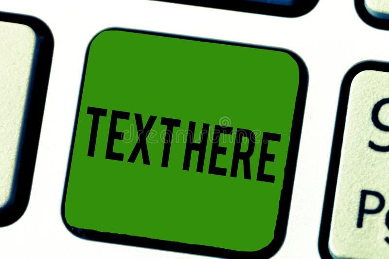 Testo del testo della scrittura qui Spazio di significato di concetto per mettere il modello preciso di sensibilità del messaggio immagini stock