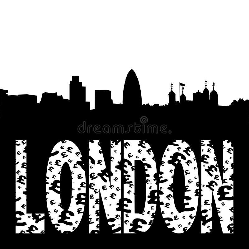 Download Testo Del Grunge Dell'orizzonte Di Londra Illustrazione Vettoriale - Illustrazione di ombra, costruzione: 7308145