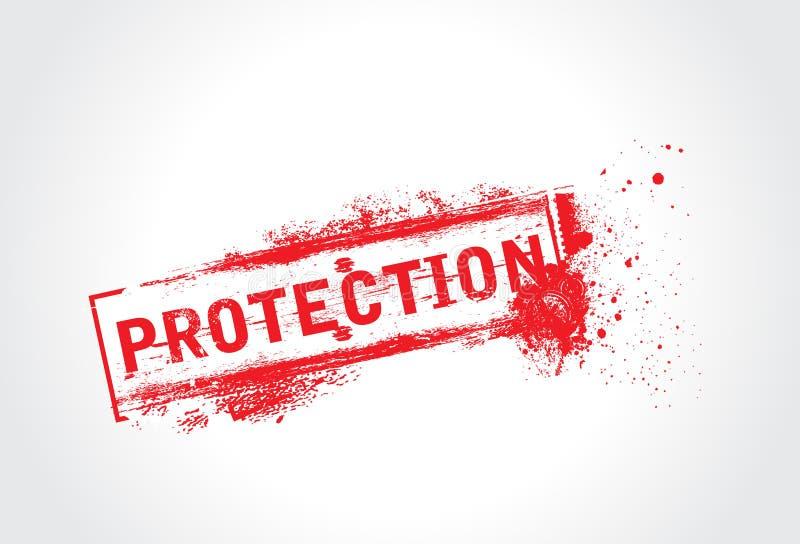 Testo del grunge di protezione illustrazione di stock