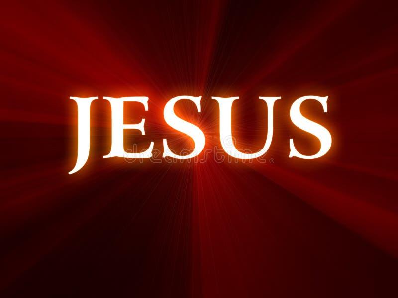 Testo del Jesus su priorità bassa rossa illustrazione di stock
