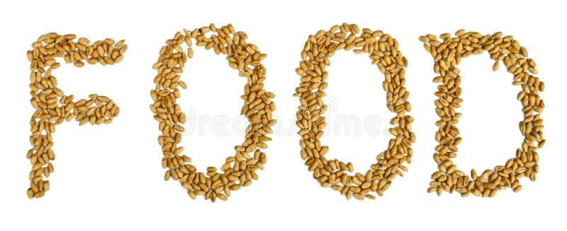 Testo dell'alimento di grani del grano fotografie stock libere da diritti