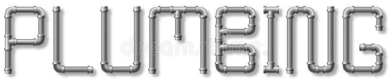 Testo dell'impianto idraulico illustrazione vettoriale