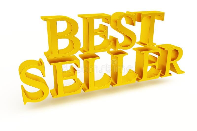 Testo dell'oro del best-seller 3d fotografia stock