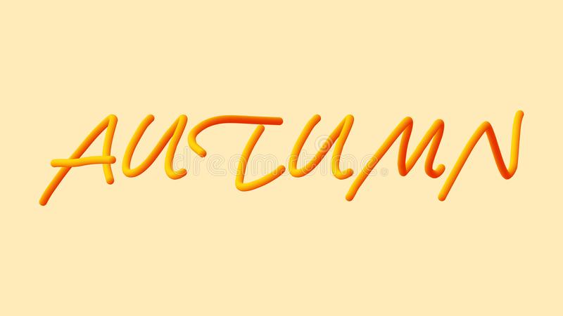 Testo della metropolitana di vettore di autunno 3D royalty illustrazione gratis