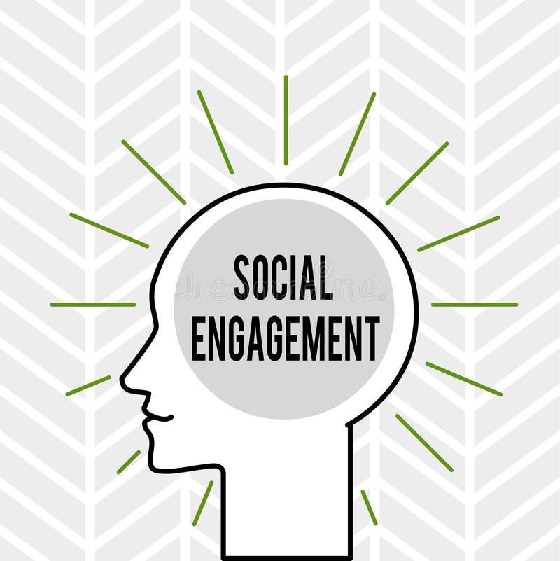 Testo della scrittura che scrive impegno sociale Concetto che significa grado di impegno in comunit? in linea o una societ? royalty illustrazione gratis