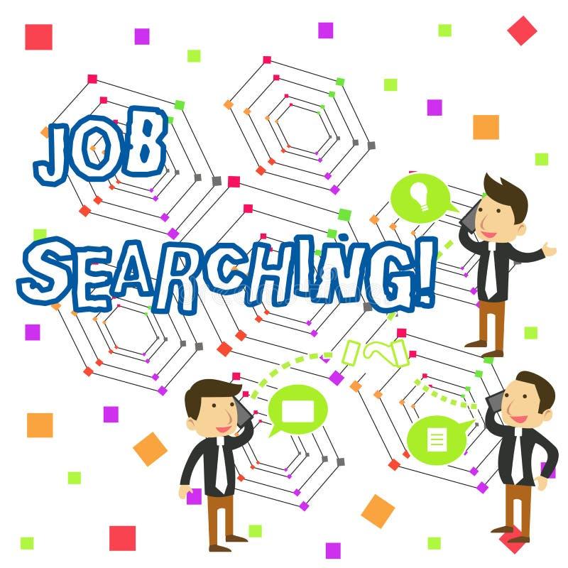 Testo della scrittura che scrive ricerca di lavoro Concetto che significa l'atto di ricerca ricerca di lavoro di occupazione o de illustrazione di stock