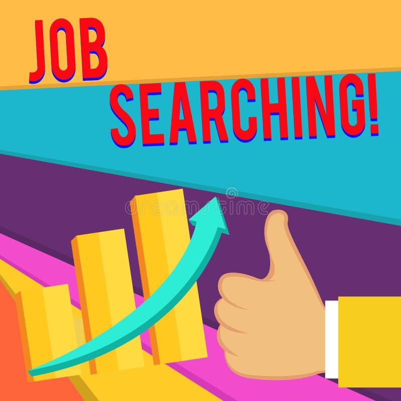 Testo della scrittura che scrive ricerca di lavoro Concetto che significa l'atto di ricerca ricerca di lavoro di occupazione o de royalty illustrazione gratis