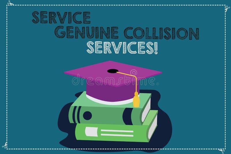 Testo della scrittura che scrive a servizio i servizi genuini di collisione Colore di servizi di incidente stradale automatico di royalty illustrazione gratis