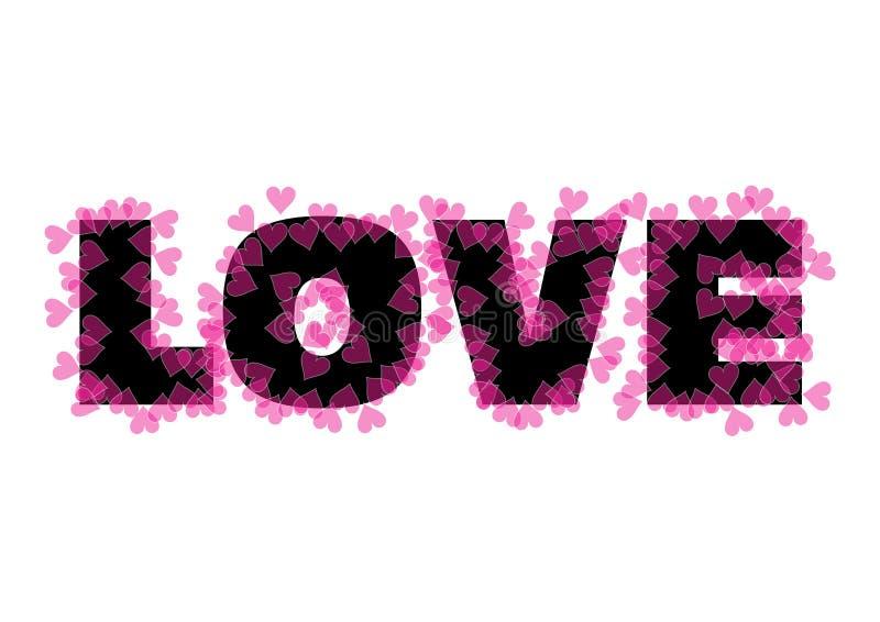 Testo di amore illustrazione di stock
