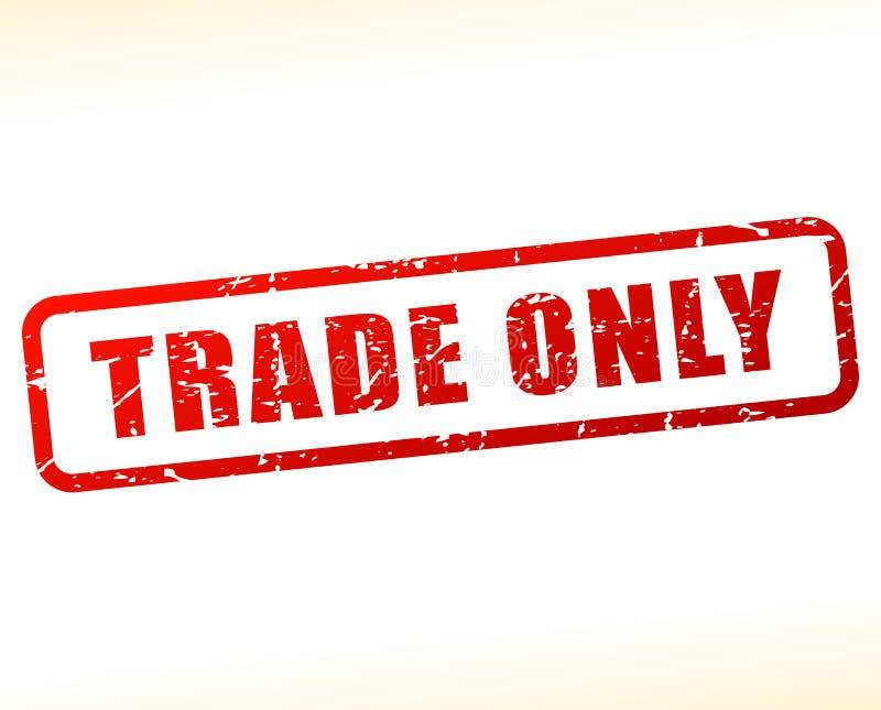 Testo di commercio soltanto attenuato illustrazione vettoriale