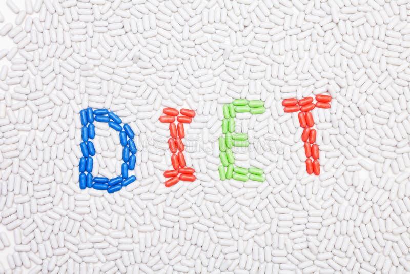 Testo di dieta fatto delle droghe immagine stock libera da diritti