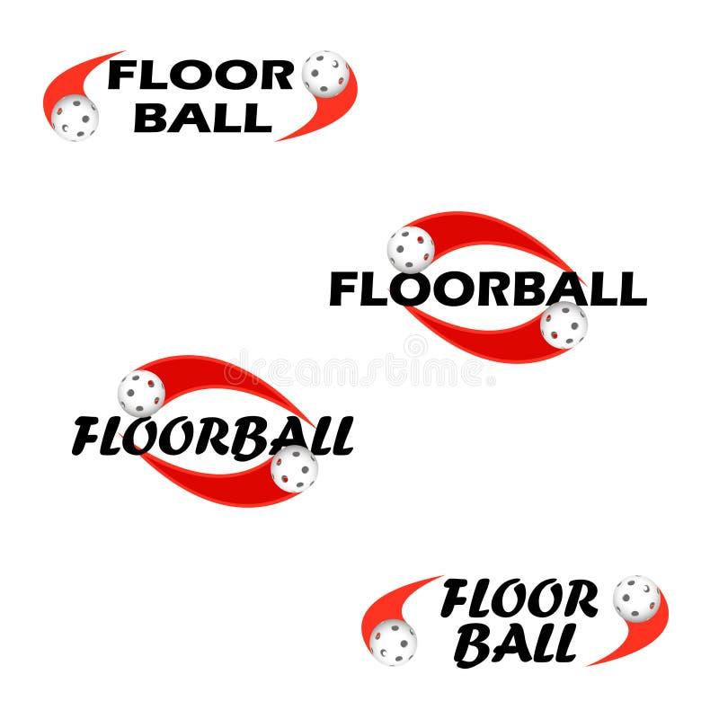 Testo di Floorball per il logo il gruppo e la tazza royalty illustrazione gratis